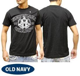 【セール】 オールドネイビー メンズ Tシャツ ブラック OLD NAVY NATIONAL CHAMPIONS GAP 半袖 トップス シャツ インポート ファッション ブランド ストリート サーフ アメリカン カジュアル アメカジ ヴィンテージ スタイル 正規 商品