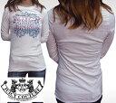 ジューシークチュール レディース 長袖 Tシャツ ホワイト JUICY COUTURE ロンT インポート LAセレブ パリスヒルトン ファッション 海外セレブ 多数着用 ハリウッド セレブ LAカジ