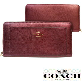 a835bb506911 COACH コーチ 財布 長財布 レザー アコーディオン ジップ アラウンド メタリックチェリー マルチ 小物 雑貨 インポート ファッション