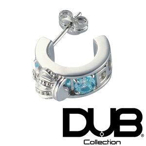 【送料無料】 DUB ジュエリー ピアス Crown hoop クラウン フープ 298-3(アクアブルーCZ) メンズ レディース ダブジュエリー シルバー アクセサリー ダブコレクション リング 指輪 ネックレス Safiri