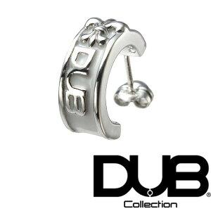【送料無料】 DUB ピアス メンズ レディース フープピアス ホワイト ロゴ 237-2 WH ジュエリー ダブジュエリー シルバー アクセサリー ダブコレクション リング 指輪 ネックレス Safiri サファリ L