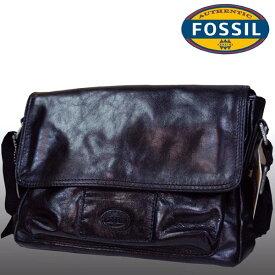 フォッシル ショルダーバッグ メンズ レディース 兼用 レザー バッグ ブラック FOSSIL インポート ファッション ブランド ストリート サーフ カジュアル アメカジ セレカジ ヴィンテージ スタイル 正規 商品