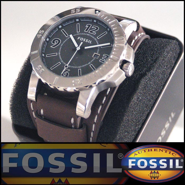 フォッシル メンズ ボーイズ 腕時計 FOSSIL 国内未発売モデル 時計 レザーバンド ウォッチ BQ1019 インポート ファッション ブランド 海外セレブ 多数 愛用 ストリート サーフ アメリカン カジュアル アメカジ セレカジ スタイル 正規 商品 セール