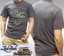Laid-Back USA レイドバック メンズ Tシャツ PIT CREW ブラック 半袖 シャツ safari サファリ LEON レオン 雑誌 掲載 ブランド アメカジ ストリート ヴィンテージ サーフ ロンハーマン カジュアル デウス ジョンソンモータース シボレー バイク ファッション スタイル