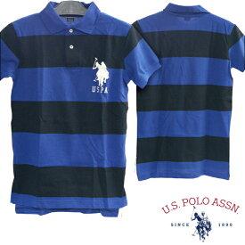U.S. POLO ASSN ユーエスポロアッスン メンズ 半袖 ボーダー ポロシャツ PONY ポニー ブラック ブルー カジュアル アメカジ スタイル ファッション