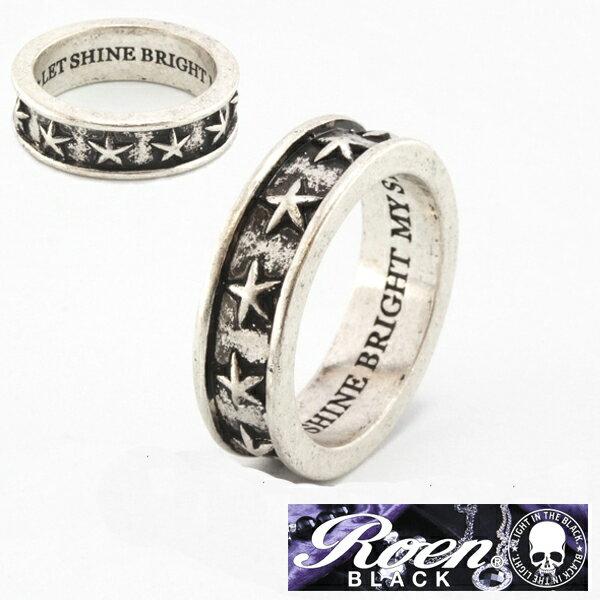 Roen BLACK ロエン ブラック スター リング シルバーカラー 指輪 RO-652 RoenBLACK ロエンブラック アクセサリー アクセサリー ジュエリー ブランド アクセ メンズ レディース ユニセックス 男女兼用 ペア