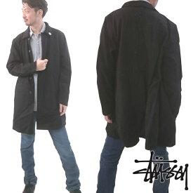 ステューシー STUSSY メンズ ウール コート ジャケット WOOL TRENCH JACKET ブラック アウター トップス 男性用 ストゥーシー スチューシー インポート ストリート スタイル ブランド HIPHOP ウェアー B系 ウェア アメカジ ヒップホップ ファッション 正規