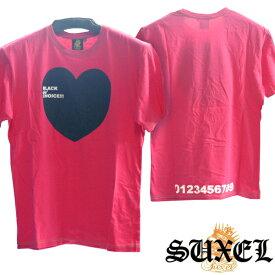 【ファッションショー出展商品】 サクエル Tシャツ ピンク SUXEL BLACK de´CHOICE!!! 雑誌 掲載 ブランド ストリート HIPHOP ウェアー B系 服 ヒップホップ ファッション サーフ カジュアル ウェア スタイル