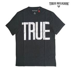 トゥルーレリジョン メンズ ロゴ Tシャツ ブラック TRUE RELIGION LOGO tシャツ 半袖 シャツ セレブ 愛用 ブランド ファッション アメカジ インポート カジュアル ヴィンテージ スタイル 正規 商品
