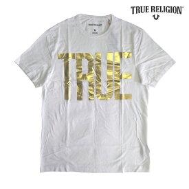 トゥルーレリジョン メンズ ロゴ Tシャツ TRUE RELIGION LOGO ホワイト tシャツ 半袖 シャツ セレブ 愛用 ブランド ファッション アメカジ インポート カジュアル ヴィンテージ スタイル 正規 商品