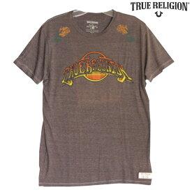 【訳あり・アウトレット】 トゥルーレリジョン メンズ TRUE RELIGION Tシャツ ROSE BOWL ブラウン tシャツ 半袖 シャツ セレブ 愛用 ブランド ファッション アメカジ インポート カジュアル ヴィンテージ スタイル 正規 商品