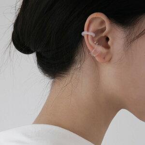 【 NYU-EC005】[2個セット] NYUNYU 韓国ファッション ジュエリー ブランド アクセサリー 金属アレルギー対応 エレガント カジュアル オシャレ シンプル ボルト イヤーカフ イヤリング 透明EARCUFF