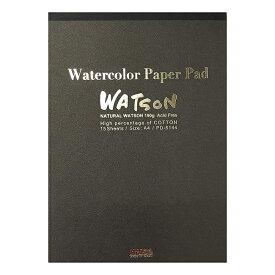 【メール便OK】ミューズ 水彩紙 ワトソンパッド A4サイズPD-6144