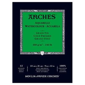 【ネコポスOK】ARCHESアルシュ 水彩紙ポストカード300g/m2 細目 5枚入り
