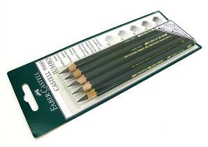 【メール便(ネコポス)OK】ファーバーカステル 9000番ジャンボ鉛筆5硬度セット