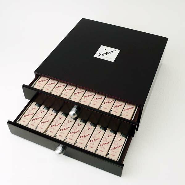 """【送料無料】ホルベイン工業 高品位油絵具VERNET """"ヴェルネ"""" ウッドボックス40色セット"""