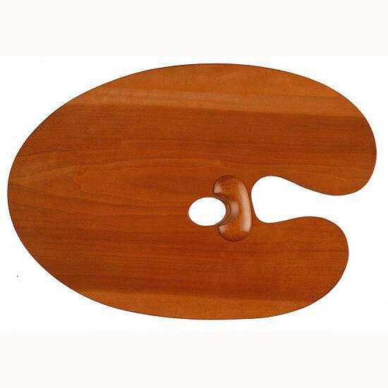 【送料無料】【お取り寄せ品】油彩用 木製パレットホルベイン 専門家用朱利桜製パレットオーバル型(丸)2号