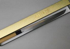 あさがや しんかい 先丸蛸引包丁 刺身包丁 30センチ 白紙2号鋼(日立金属安来工場製) Asagaya Shinkai Clip Point Takohiki Sashimi Kitchen Knife 300mm