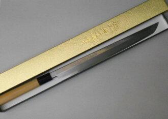 아침이 야자응이야 소인부엌칼(선환형) 회 치는 칼 27센치 백지 2호 강철(히타치 금속 야스기 공장제) Asagaya Shinkai Clip Point Takohiki Sashimi Kitchen Knife 270 mm