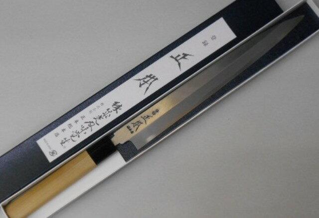 正本総本店 柳刃包丁 本霞 玉白鋼 27センチ 刺身包丁 正本 Masamoto Sohonten Yanagiba Sashimi Kitchen Knife 27cm Shirogami No.2 carbon steel