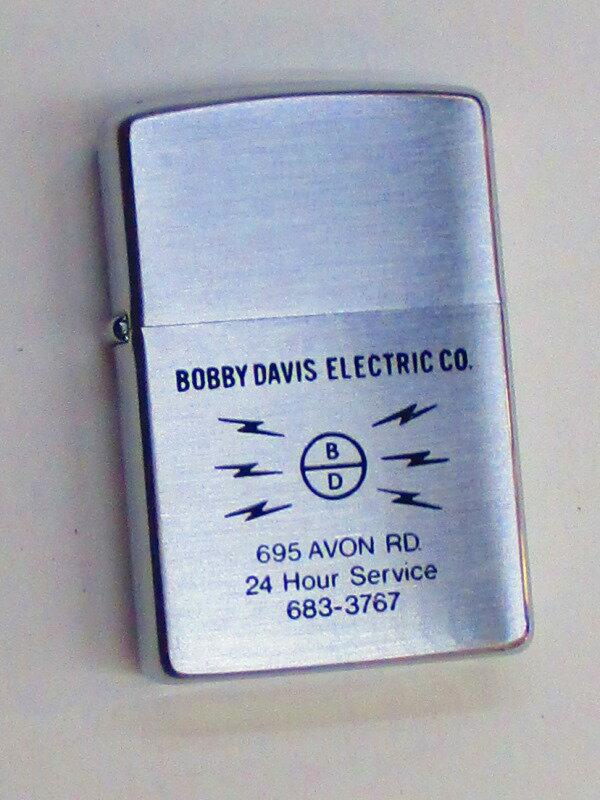 ビンテージZippo ボビーデービス電気社 (電気工事企業) 1978年製 未使用 (Z3-168)