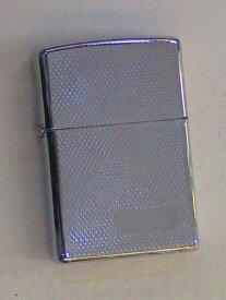 メッシュデザイン ラスターエッチ加工 ポリッシュZippo 2001年11月製 未使用 (Z-293)