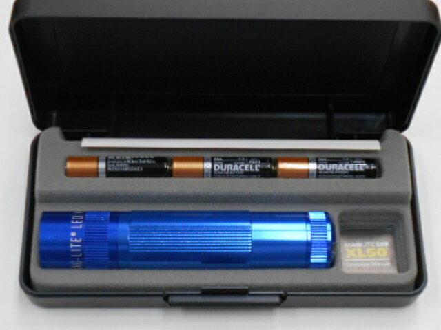 MAGLITEマグライト LED XL50 ブルー 単4乾電池3個 ギフトボックス