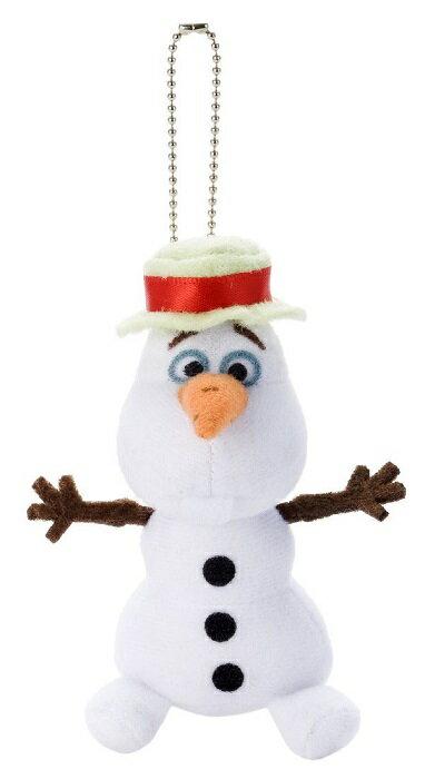 【数量限定価格!!】【ネコポス送料無料】 ディズニー アナと雪の女王 オラフ 帽子 ぬいぐるみボールチェーン 【Disneyzone】