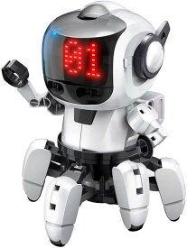 ★【単4アルカリ電池4本プレゼント】エレキット ロボット工作キット プログラミング・フォロ for PaletteIDE 赤外線レーダー搭載6足歩行ロボット  MR-9110