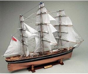 ★【木工用アロンアルファ+カッター+紙やすり付き】 【送料無料】 ウッディジョー 木製帆船模型 1/80 カティサーク(帆付)