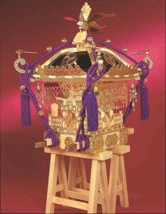 ★【木工用アロンアルファ+カッター+紙やすり付き】 【送料無料】 ウッディジョー 木製模型 1/5 江戸神輿