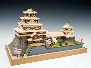 ★【木工用アロンアルファ+カッター+紙やすり付き】 【送料無料】 ウッディジョー 木製建築模型 1/150 広島城