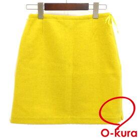 【中古】 マックスマーラ スカート レディース ミニ ひざ上 ウール イエロー 黄色 サイズ38 Max Mara