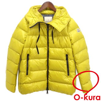Monk rail down jacket Lady's long sleeves food nylon yellow yellow size 2 SERINDE GIUBBOTTO MONCLER deep-discount exemption from taxation used old clothes apparel clothes A4028509