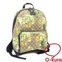708d716ad8a5 Yellowish green PVC leather 406370 GUCCI leather floral design flower backpack  deep-discount exemption from taxation A2169763 of Gucci rucksack GG bloom  ...