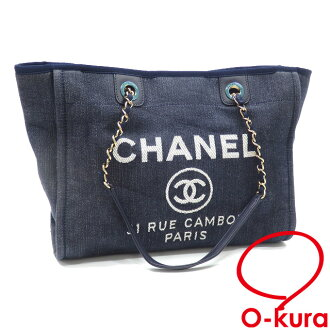 cccd4378d96c O-kura Pawnshop: Chanel chain tote bag Deauville Lady's indigo denim A67001  CHANEL shawl here mark deep-discount exemption from taxation A171150 |  Rakuten ...
