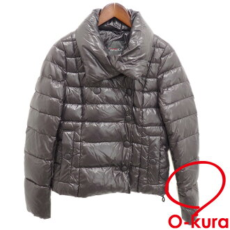 Duvet Thika down jacket Lady's long sleeves nylon purple system purple size 40 batting DUVETICA deep-discount exemption from taxation used old clothes apparel clothes A6022306