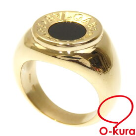 【中古】 ブルガリ ブルガリブルガリ リング レディース オニキス K18YG 10号 14.0g 指輪 750 18金 イエローゴールド
