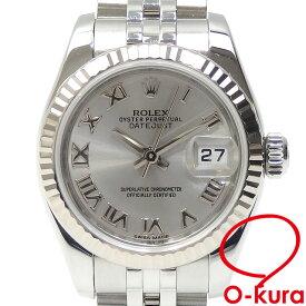【中古】 ロレックス ROLEX デイトジャスト レディース 179174 オートマ ランダム番 SS WG 腕時計 自動巻き ホワイトゴールド
