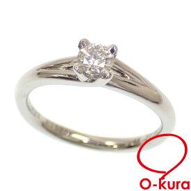 【中古】 ショーメ ダイヤモンド リング レディース Pt950 8号 推定0.25ct 4.0g 指輪 プラチナ