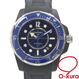 【中古】 シャネル 腕時計 J12 マリーン 42 メンズ オートマ セラミック ラバー H2559 自動巻き ブラック 黒