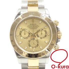 【中古】 ロレックス ROLEX デイトナ コスモグラフ メンズ 116523 オートマ P番 2000年頃製 SS YG 腕時計 自動巻き クロノグラフ