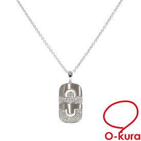 【中古】 ブルガリ パレンテシ ネックレス レディース ダイヤモンド K18WG 14.9g 18金 ホワイトゴールド 750