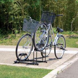 自転車スタンド 2台用 BYS-2 ブラック[自転車 置き場 サイクル ガレージ サイクルポート 自転車置き場 バイク置き場 自転車収納 バイク収納 玄関 サイクルガレージ アイリスオーヤマ]