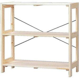 ラック 木製 ウッディラック 3段 WOR-8308 アイリスオーヤマ送料無料 ウッドラック オープンラック 木製 ラック シェルフ 棚 収納ラック ディスプレイラック ナチュラル シンプル