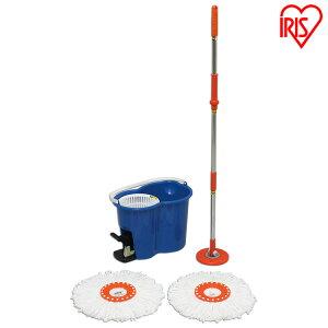 回転モップ アイリスオーヤマ KMO-450 モップ 水拭き モップ 業務用 モップクリーナー モップ絞り器 モップ絞り フローリング 清掃 床 回転モップ 掃除 雑巾 床掃除 玄関 畳 乾拭き ペット 室内