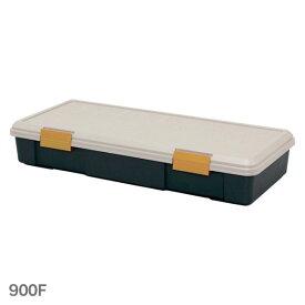 RV BOX 900F 浅型 カーキ/ブラック[RV BOX アイリスオーヤマ 収納ボックス ベランダ 収納 屋外収納 ベランダ ストッカー 工具箱 工具ケース]