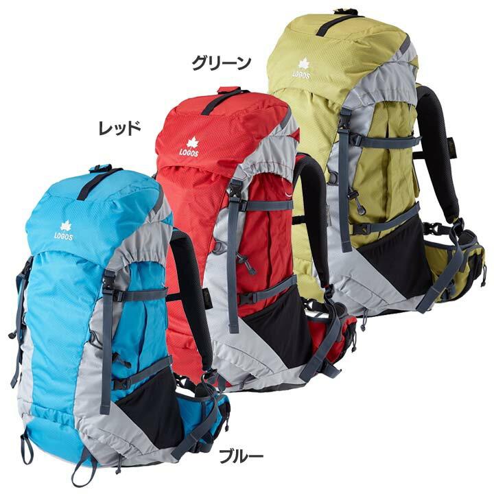 ADVEL リュック45 88250150送料無料 鞄 バッグ サック キャンプ ロゴスBAG グリーン・レッド・ブルー【D】