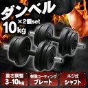 セメントダンベル10kg×2個セット ブラック SDB-I001BKダンベルセット トレーニング 10kg 2個セット 筋トレ 計20kg スポーツ シェイプア...
