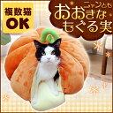 ニャンともおおきなもぐる実かぼちゃ送料無料 あったか ペットベッド 猫用ベッド 春用 秋用 冬用 防寒 寒さ対策 ペッ…